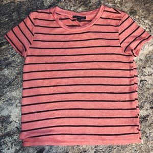 Maroon and Pink Striped AE Knitted Tee